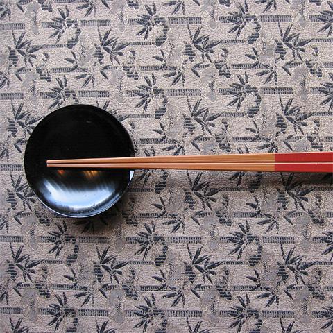 山中塗 箸置豆皿(朱・黒)