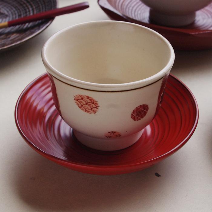 3.5寸木皿(根来・溜)