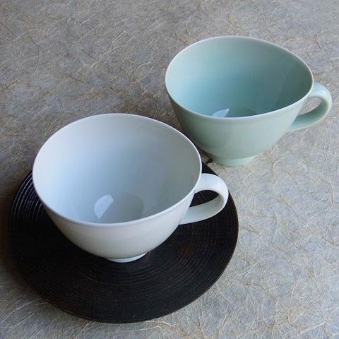 エッグマグカップ青磁・白磁
