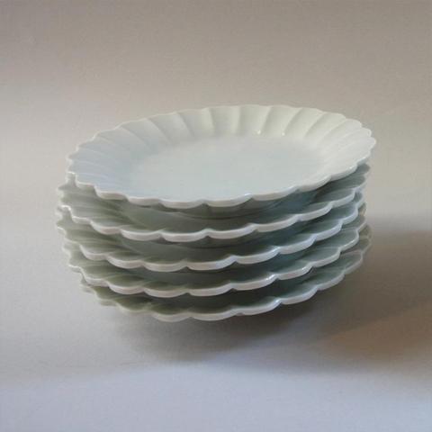 李朝白磁写し菊型小皿