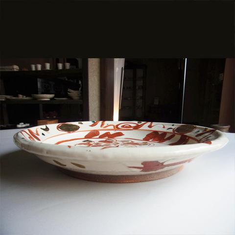 赤絵大皿 めでたい