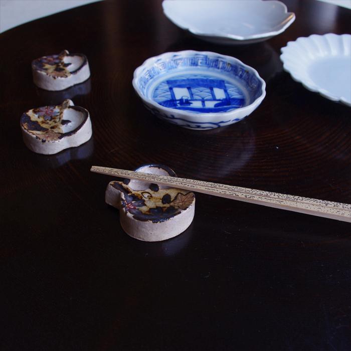 雲錦箸置土瓶